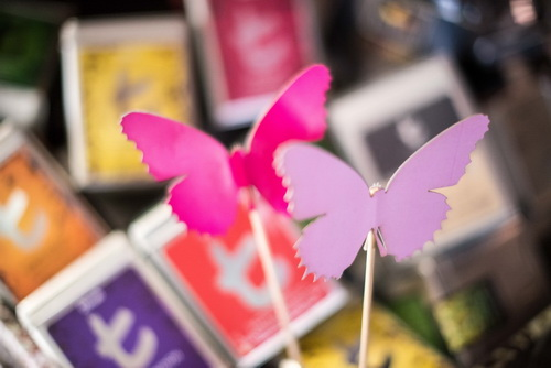 Handmade Shapes of Butterflies on Sticks