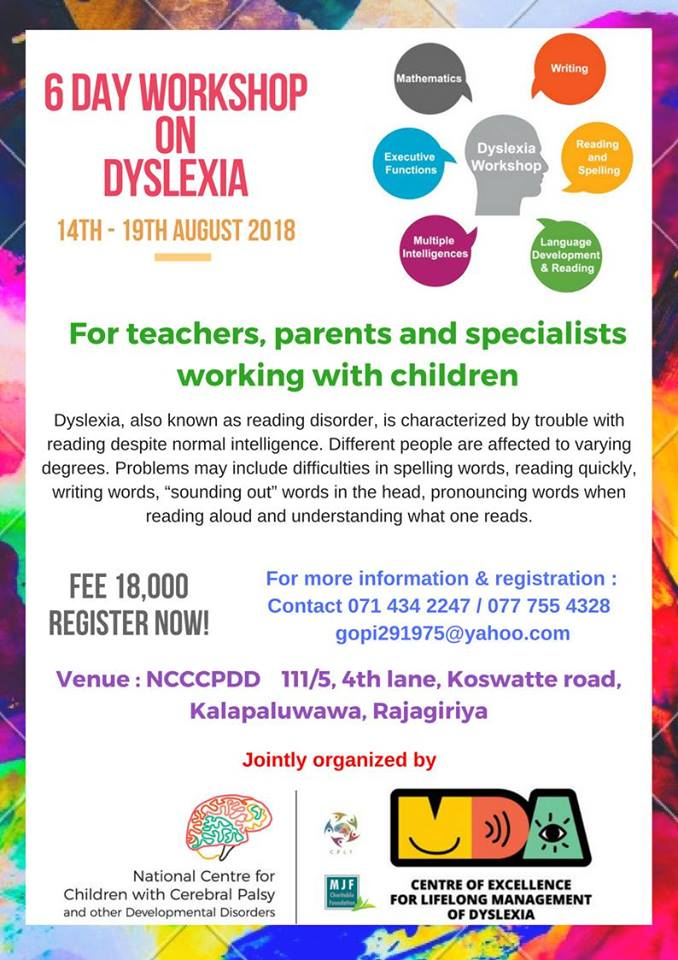 Workshop on Dyslexia